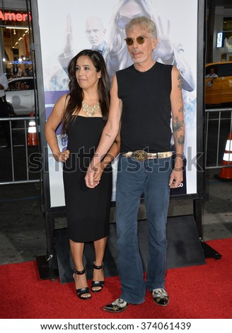 "LOS ANGELES, CA - OCTOBER 26, 2015: Billy Bob Thornton & wife Connie Angland at the Los Angeles premiere of his movie ""Our Brand is Crisis"" at the TCL Chinese Theatre, Hollywood.