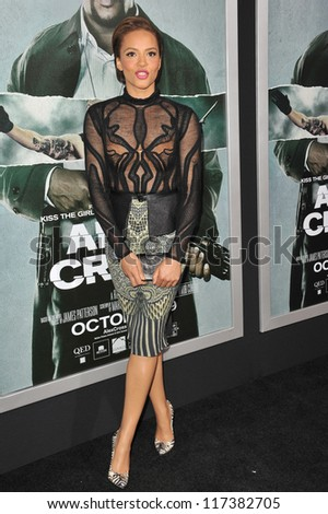 "LOS ANGELES, CA - OCTOBER 15, 2012: Carmen Ejogo at the Los Angeles premiere of her movie ""Alex Cross"" at the Cinerama Dome, Hollywood."