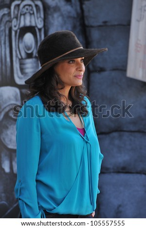 "LOS ANGELES, CA - OCTOBER 23, 2011: Constance Marie at the Los Angeles premiere of her new movie ""Puss in Boots"" at the Regency Village Theatre, Westwood. October 23, 2011  Los Angeles, CA"