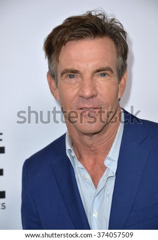 "LOS ANGELES, CA - OCTOBER 29, 2015: Dennis Quaid at the Los Angeles premiere for Crackle's ""The Art of More"" at Sony Pictures Studios, Culver City."