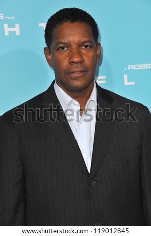 "LOS ANGELES, CA - OCTOBER 23, 2012: Denzel Washington at the Los Angeles premiere of his new movie ""Flight"" at the Cinerama Dome, Hollywood. - stock photo"