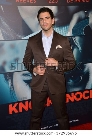 "LOS ANGELES, CA - OCTOBER 7, 2015: Director Eli Roth at the Los Angeles premiere of his movie ""Knock Knock"" at the TCL Chinese Theatre, Hollywood.