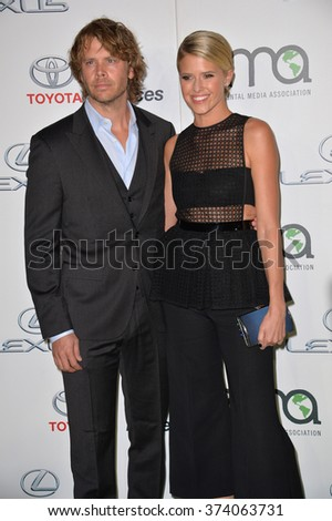 LOS ANGELES, CA - OCTOBER 24, 2015: Eric Christian Olsen & wife Sarah Wright Olsen at the 25th Annual Environmental Media Awards at Warner Bros. Studios, Burbank, CA. 
