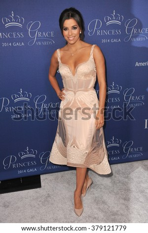 LOS ANGELES, CA - OCTOBER 8, 2014: Eva Longoria at the 2014 Princess Grace Awards Gala at the Beverly Wilshire Hotel, Beverly Hills. - stock photo