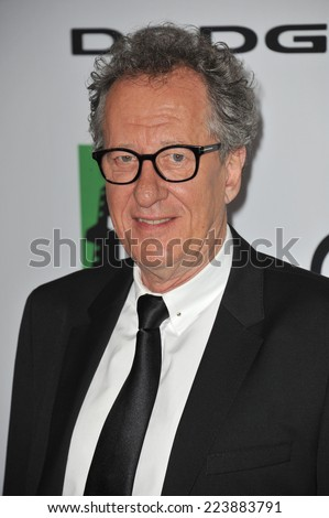 LOS ANGELES, CA - OCTOBER 13, 2013: Geoffrey Rush at the 17th Annual Hollywood Film Awards at the Beverly Hilton Hotel.  - stock photo