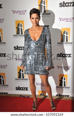 LOS ANGELES, CA - OCTOBER 25, 2010: Halle Berry at the 14th Annual Hollywood Awards Gala at the Beverly Hilton Hotel. - stock photo