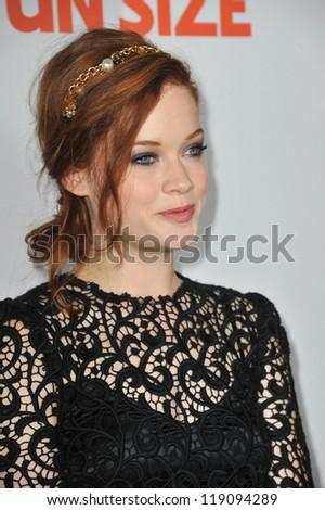 "LOS ANGELES, CA - OCTOBER 25, 2012: Jane Levy at the Los Angeles premiere of her new movie ""Fun Size"" at the Paramount Theatre, Hollywood. - stock photo"