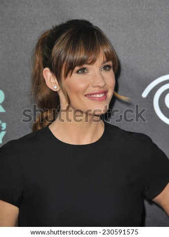 "LOS ANGELES, CA - OCTOBER 6, 2014: Jennifer Garner at the world premiere of her movie ""Alexander and the Terrible, Horrible, No Good, Very Bad Day"" at the El Capitan Theatre, Hollywood.  - stock photo"