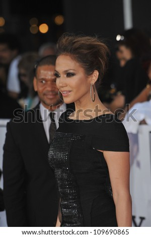 "LOS ANGELES, CA - OCTOBER 27, 2009: Jennifer Lopez at the premiere of Michael Jackson's ""This Is It"" at the Nokia Theatre, L.A. Live. - stock photo"