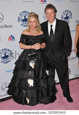 LOS ANGELES, CA - OCTOBER 23, 2010: Kathy Hilton & husband Rick Hilton at the 32nd Anniversary Carousel of Hope Ball at the Beverly Hilton Hotel.