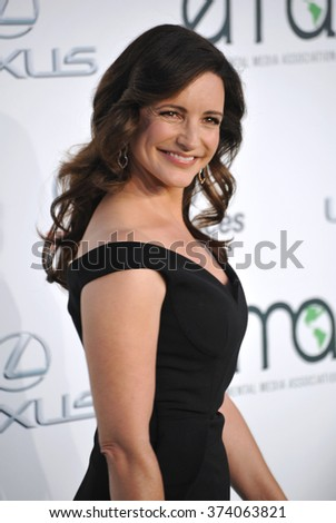 LOS ANGELES, CA - OCTOBER 24, 2015: Kristin Davis at the 25th Annual Environmental Media Awards at Warner Bros. Studios, Burbank, CA.   - stock photo
