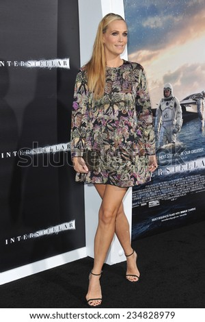 LOS ANGELES, CA - OCTOBER 26, 2014: Molly Sims at the Los Angeles premiere of Interstellar at the TCL Chinese Theatre, Hollywood.  - stock photo