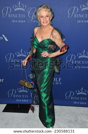 LOS ANGELES, CA - OCTOBER 8, 2014: Tippi Hedren at the 2014 Princess Grace Awards Gala at the Beverly Wilshire Hotel, Beverly Hills.  - stock photo