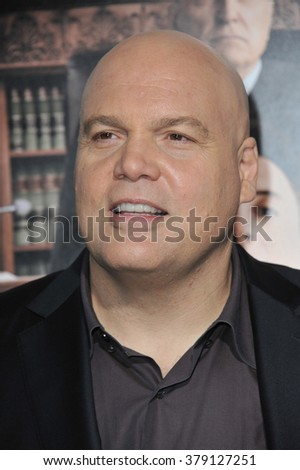 "LOS ANGELES, CA - OCTOBER 1, 2014: Vincent D'Onofrio at the Los Angeles premiere of his movie ""The Judge"" at the Samuel Goldwyn Theatre, Beverly Hills."