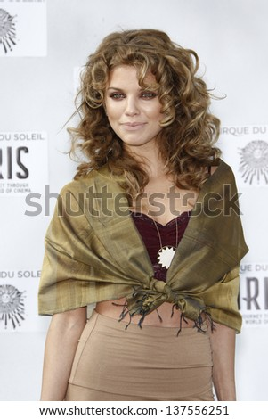 LOS ANGELES, CA - SEP 25: AnnaLynne McCord  at the IRIS, A Journey Through the World of Cinema by Cirque du Soleil premiere September 25, 2011 at Kodak Theater in Los Angeles, California - stock photo
