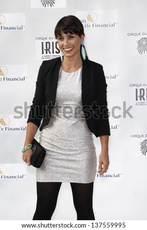 LOS ANGELES, CA - SEP 25: Constance Zimmer at the IRIS, A Journey Through the World of Cinema by Cirque du Soleil premiere September 25, 2011 at Kodak Theater in Los Angeles, California - stock photo