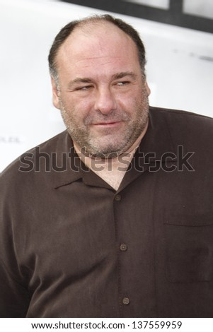 LOS ANGELES, CA - SEP 25: James Gandolfini at the IRIS, A Journey Through the World of Cinema by Cirque du Soleil premiere September 25, 2011 at Kodak Theater in Los Angeles, California