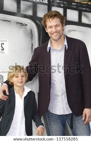 LOS ANGELES, CA - SEP 25: James Tupper; Homer Laffoon at the IRIS, A Journey Through the World of Cinema by Cirque du Soleil premiere September 25, 2011 at Kodak Theater in Los Angeles, California - stock photo