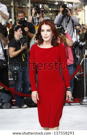 LOS ANGELES, CA - SEP 25: Priscilla Presley at the IRIS, A Journey Through the World of Cinema by Cirque du Soleil premiere September 25, 2011 at Kodak Theater in Los Angeles, California - stock photo