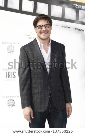 LOS ANGELES, CA - SEP 25: Rich Sommer at the IRIS, A Journey Through the World of Cinema by Cirque du Soleil premiere September 25, 2011 at Kodak Theater in Los Angeles, California - stock photo