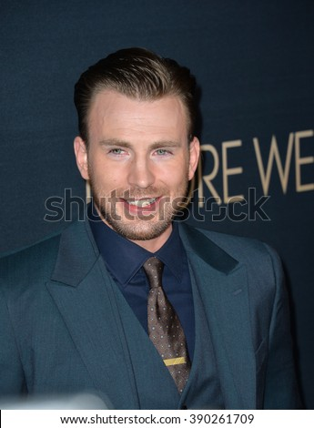"LOS ANGELES, CA - SEPTEMBER 2, 2015: Actor/director Chris Evans at the Los Angeles premiere of his movie ""Before We Go"" at the Arclight Theatre, Hollywood. - stock photo"