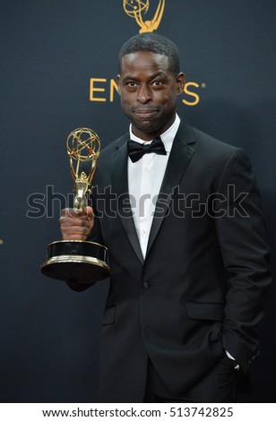 LOS ANGELES, CA. September 18, 2016: Actor Sterling K. Brown at the 68th Primetime Emmy Awards at the Microsoft Theatre L.A. Live.