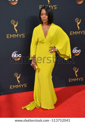 LOS ANGELES, CA. September 18, 2016: Actress Angela Bassett at the 68th Primetime Emmy Awards at the Microsoft Theatre L.A. Live.