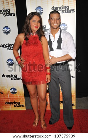 LOS ANGELES, CA - SEPTEMBER 20, 2010: Bristol Palin (daughter of Sarah Palin) & Mark Ballas at the Season 11 premiere of ABC's Dancing With The Stars at CBS Television City, Los Angeles.