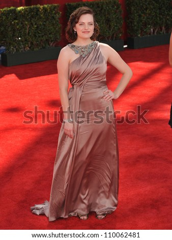 LOS ANGELES, CA - SEPTEMBER 20, 2009: Elizabeth Moss at the 61st Primetime Emmy Awards at the Nokia Theatre L.A. Live.