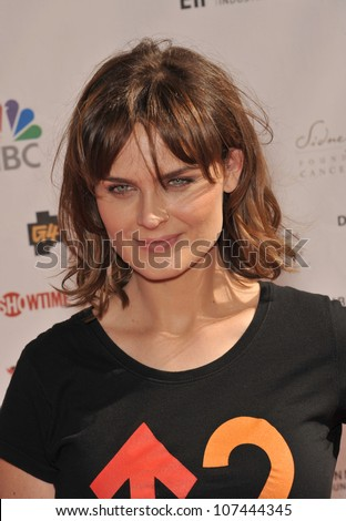 LOS ANGELES, CA - SEPTEMBER 10, 2010: Emily Deschanel at the Stand Up To Cancer event at Sony Pictures Studios, Culver City.