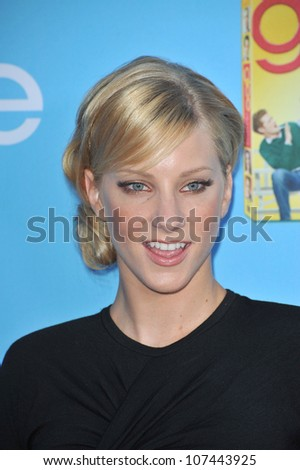 """LOS ANGELES, CA - SEPTEMBER 7, 2010: """"Glee"""" star Heather Morris at the season two premiere screening & party for """"Glee"""" at Paramount Studios, Hollywood. - stock photo"""