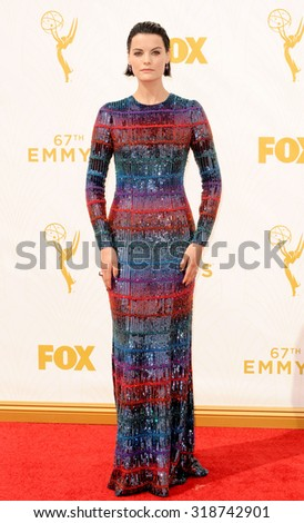 LOS ANGELES, CA - SEPTEMBER 20, 2015: Jaimie Alexander at the 67th Annual Primetime Emmy Awards held at the Microsoft Theater in Los Angeles, USA on September 20, 2015. - stock photo