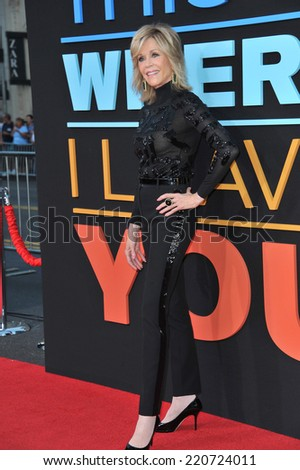 "LOS ANGELES, CA - SEPTEMBER 15, 2014: Jane Fonda at the Los Angeles premiere of her movie ""This Is Where I Leave You"" at the TCL Chinese Theatre, Hollywood.  - stock photo"