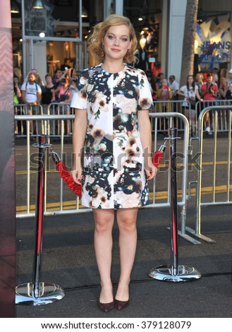 "LOS ANGELES, CA - SEPTEMBER 15, 2014: Jane Levy at the Los Angeles premiere of ""This Is Where I Leave You"" at the TCL Chinese Theatre, Hollywood. - stock photo"