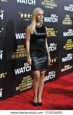 "LOS ANGELES, CA - SEPTEMBER 17, 2012: Jennie Garth at the premiere of ""End of Watch"" at the Regal Cinemas LA Live."