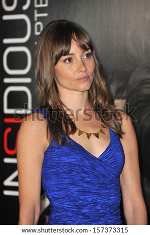 "LOS ANGELES, CA - SEPTEMBER 10, 2013: Jocelin Donahue at the world premiere of her movie ""Insidious Chapter 2"" at Universal Citywalk, Hollywood."