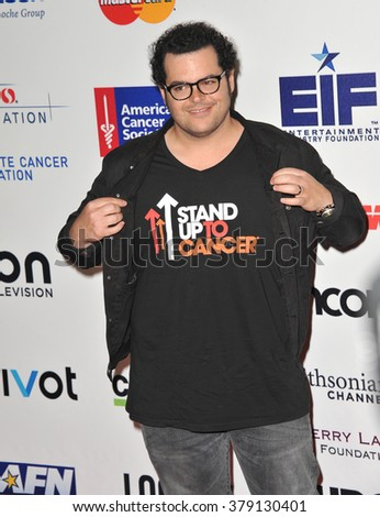 LOS ANGELES, CA - SEPTEMBER 5, 2014: Josh Gad at the 2014 Stand Up To Cancer Gala at the Dolby Theatre, Hollywood.