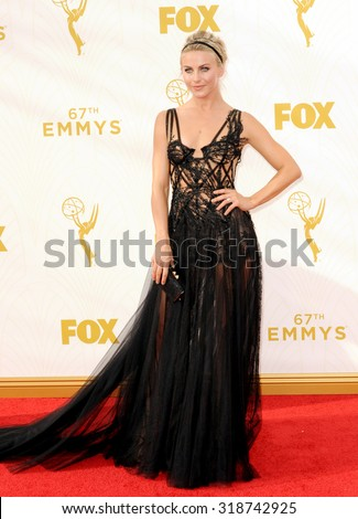 LOS ANGELES, CA - SEPTEMBER 20, 2015: Julianne Hough at the 67th Annual Primetime Emmy Awards held at the Microsoft Theater in Los Angeles, USA on September 20, 2015. - stock photo