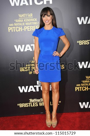 "LOS ANGELES, CA - SEPTEMBER 17, 2012: Karina Smirnoff at the premiere of ""End of Watch"" at the Regal Cinemas LA Live. - stock photo"