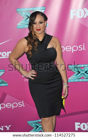 LOS ANGELES, CA - SEPTEMBER 11, 2012: Melanie Amaro, winner of the first X Factor USA, at Grauman's Chinese Theatre, Hollywood, for the season two premiere.