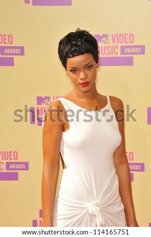 LOS ANGELES, CA - SEPTEMBER 6, 2012: Rihanna at the 2012 MTV Video Music Awards at Staples Center, Los Angeles.