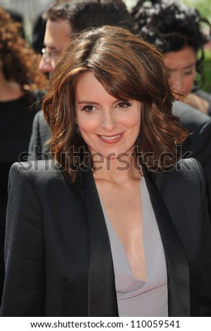 LOS ANGELES, CA - SEPTEMBER 12, 2009: Tina Fey at the 2009 Creative Arts Emmy Awards at the Nokia Theatre L.A. Live.