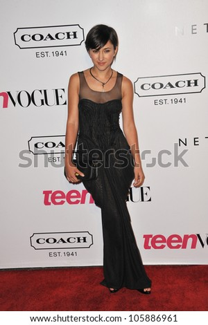 LOS ANGELES, CA - SEPTEMBER 23, 2011: Zelda Williams, daughter of Robin Williams, at the 9th Annual Teen Vogue Young Hollywood Party at Paramount Studios. September 23, 2011  Los Angeles, CA - stock photo