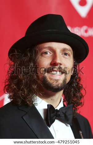 Los Angeles, CA, USA; February 2, 2013; Jason Mraz arrives to the MusiCares 2013 Person Of The Year Tribute in Los Angeles, California.