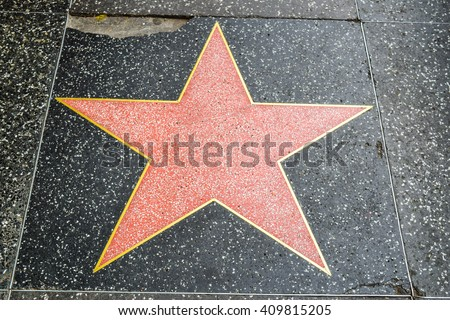 Los Angeles, CA, USA . January 16, 2016: Hollywood Walk of Fame, empty without a name - stock photo