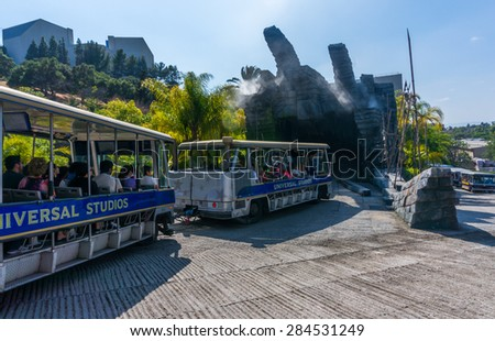 LOS ANGELES, CA/USA - MAY 24: Studio tour at Universal studios hollywood on May 24, 2015 in Los Angeles, CA, USA. It is a theme park and film studio in Los Angeles. - stock photo