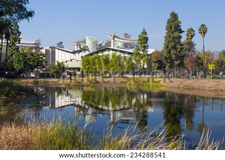 LOS ANGELES, CA/USA - NOVEMBER 29, 2014: Los Angeles County Museum of Art. The Los Angeles County Museum of Art (LACMA) is an art museum in Los Angeles. - stock photo