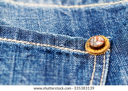 LOS ANGELES, CA, USA - October 18, 2015. Part of Jeans by Pepe Jeans London close-up. Shallow depth of field. - stock photo