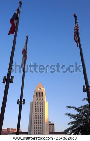Los Angeles, California at City Hall.  - stock photo