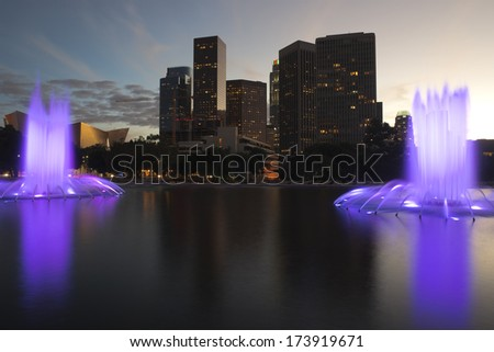 Los Angeles, California downtown skyline. - stock photo